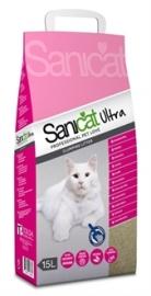 Sanicat ultra kattenbakvulling 15 ltr 15 kg